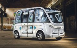 Driverless Shuttle Being Tested in Paris